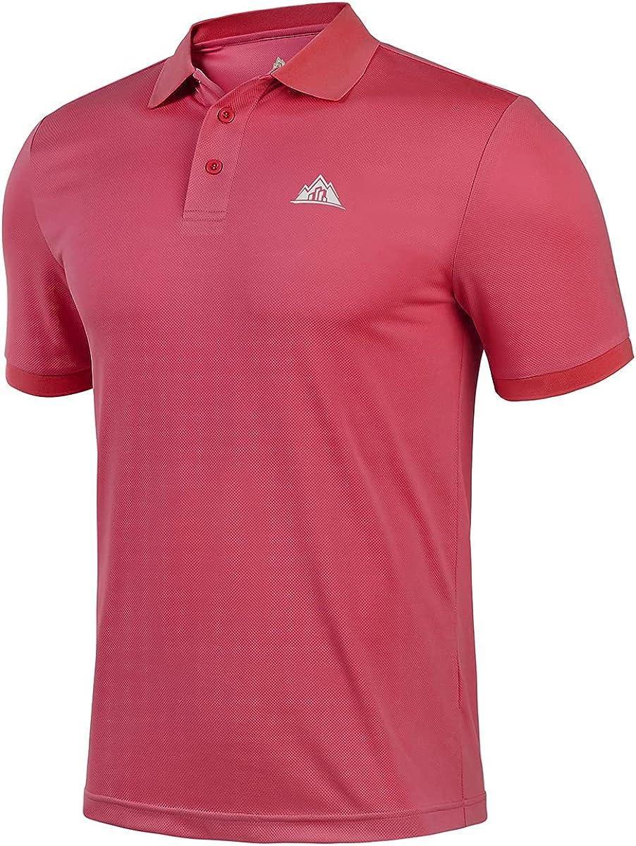BYLESIN Men's Regular-fit Quick-Dry Golf Virginia Beach Denver Mall Mall Shirt Short Polo Sleeve