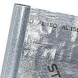 HaGa® Film de toiture avec membrane anti-vapeur Revêtement aluminium 1,5 m x 50 m