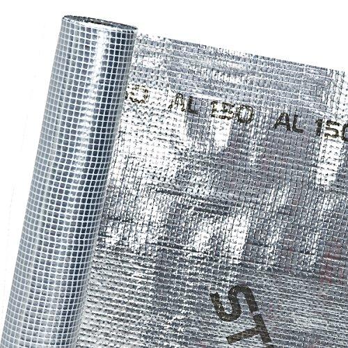 HaGa® Dachfolie in 1,5m Br. (Meterware) - Dampfschutzmembran Alu-beschichtet - diffusionsoffen - Dach - Thermoisolierung%0d%0a