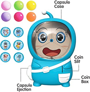 HIBRO Gashapon Machine Surprise Egg Game Token Machine Doll Robot Toys Novelty Toys Classic Vending Machine Toys for Birthdays, Kiddie Parties,Christmas, (Blue1)