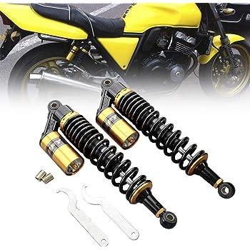 Neeknn One Pair 12.5 Inch 320mm Motorcycle Air Shock Absorbers Universal Fit For Honda Suzuki Yamaha Kawasaki ATV Go Kart Quad Dirt Sport Bikes Gold