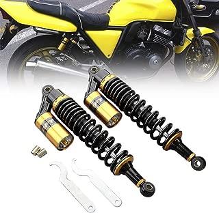 Three T Pair 320mm Motorcycle Air Shock Absorber Round End Universal Rear Shock Suspension for Honda Yamaha Kawasaki ATV Go Kart