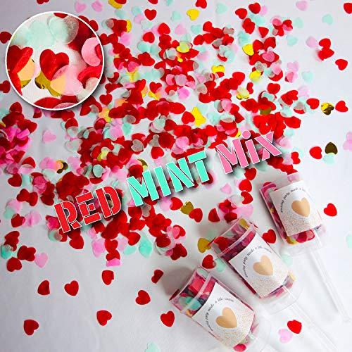 プッシュポップキャンディ 最新クラッカー 誕生日 飾り付け パーティー プッシュポップコンフェッティ セット (ハートタイプ×3本セット) (Dタイプ)