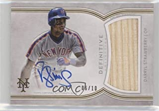 Darryl Strawberry #6/10 (Baseball Card) 2018 Topps Definitive Collection - Definitive Autograph Relic Collection #DCAR-DS