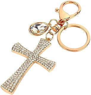 Keychain, Cross Keychain Crystal Rhinestone High Heel Shoe Pendent Keyring for Women Ladies Girls' Phone Key Purse Bag Decoration Gift