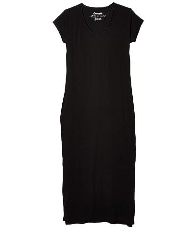 PACT Organic Cotton Market Maxi Dress (Black) Women