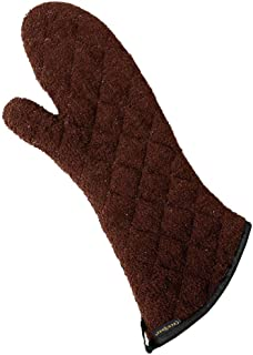 San Jamar 817TM Heavy Duty Terry Cloth Temperature Protection Oven Mitt, 17