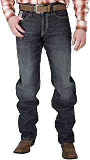 Cinch Men's White Label Relaxed Fit Mid-Rise Jeans Dark Stonewash