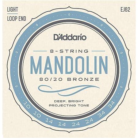 D'Addario EJ62 80/20 10-34 cuerdas luz mandolina bronce