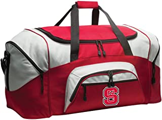 Broad Bay Deluxe NC State Suitcase Duffel Bag or Large NC State Wolfpack Gym Bag Gear Duffle