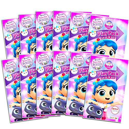 True and The Rainbow Kingdom Party Favors Pack ~ Bundle of 12 Play Packs Filled with Stickers, Coloring Books, and Crayons (True and The Rainbow Kingdom Party Supplies)