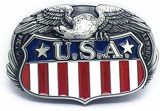 KeCol Mens Adult American Pride US Flag Eagle Belt Buckle