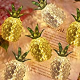 Pineapple Decor Night Lights for Bedroom, Table Centerpiece Led Lamps, Figurines Collectibles for Kids Girl Friend, 2 Pack