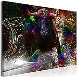 decomonkey Bilder Stier Abstrakt 120x80 cm 1 Teilig