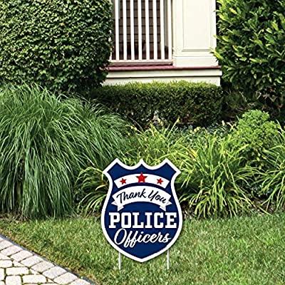 Big Dot of Happiness Thank You Police Officers - Outdoor Lawn Sign - First Responders Appreciation Yard Sign - 1 Piece