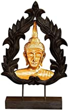 PPCP Solid Wood Buddha Statue Feng Shui Statue Crafts Decoration Home Office Decoration 25×9×49cm