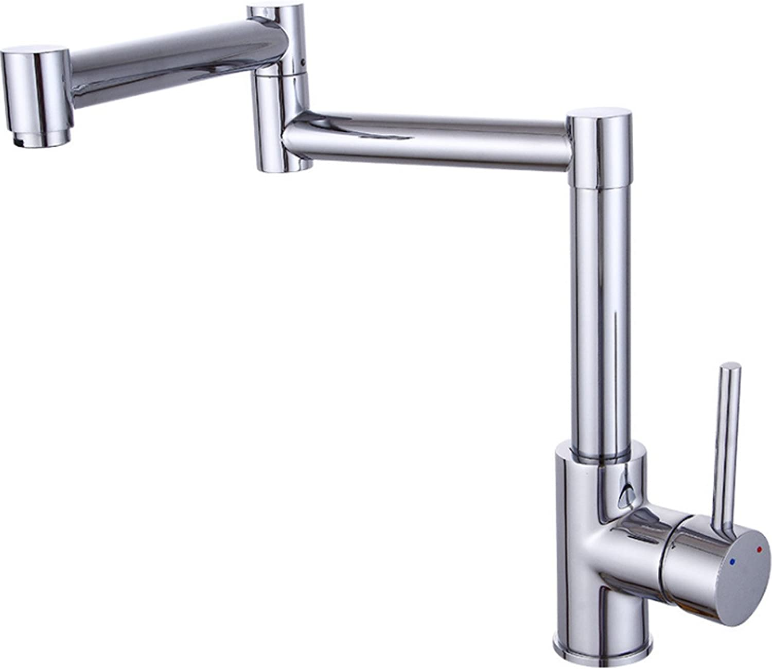 Swiveling Foldable Kitchen Sink Taps,One Hole Single Handle Copper Kitchen Faucet For Hot And Cold Water Kitchen Tap