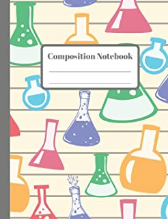 Composition Notebook: Lab Beakers - 110 Wide-Ruled Pages - Standard Composition Book Size - Fun Science Notebook