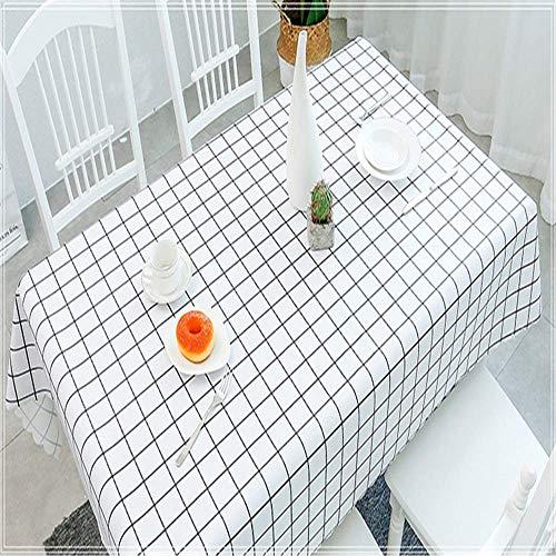 2REMISE Jardín Nórdico Mantel De PVC Mantel Rectangular Impermeable Y Resistente Al Aceite Desechable Rectangular Mesa De Café Estera Mahjong Mantel A Round135Cm