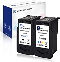 BJ - Cartuchos de repuesto remanufacturados para impresora Canon PG-510 y CL-511. Compatibles con impresoras Canon Pixma MP495, MP250, MP270, MP280, MP490, MP499, iP2702, MX350 y MP480