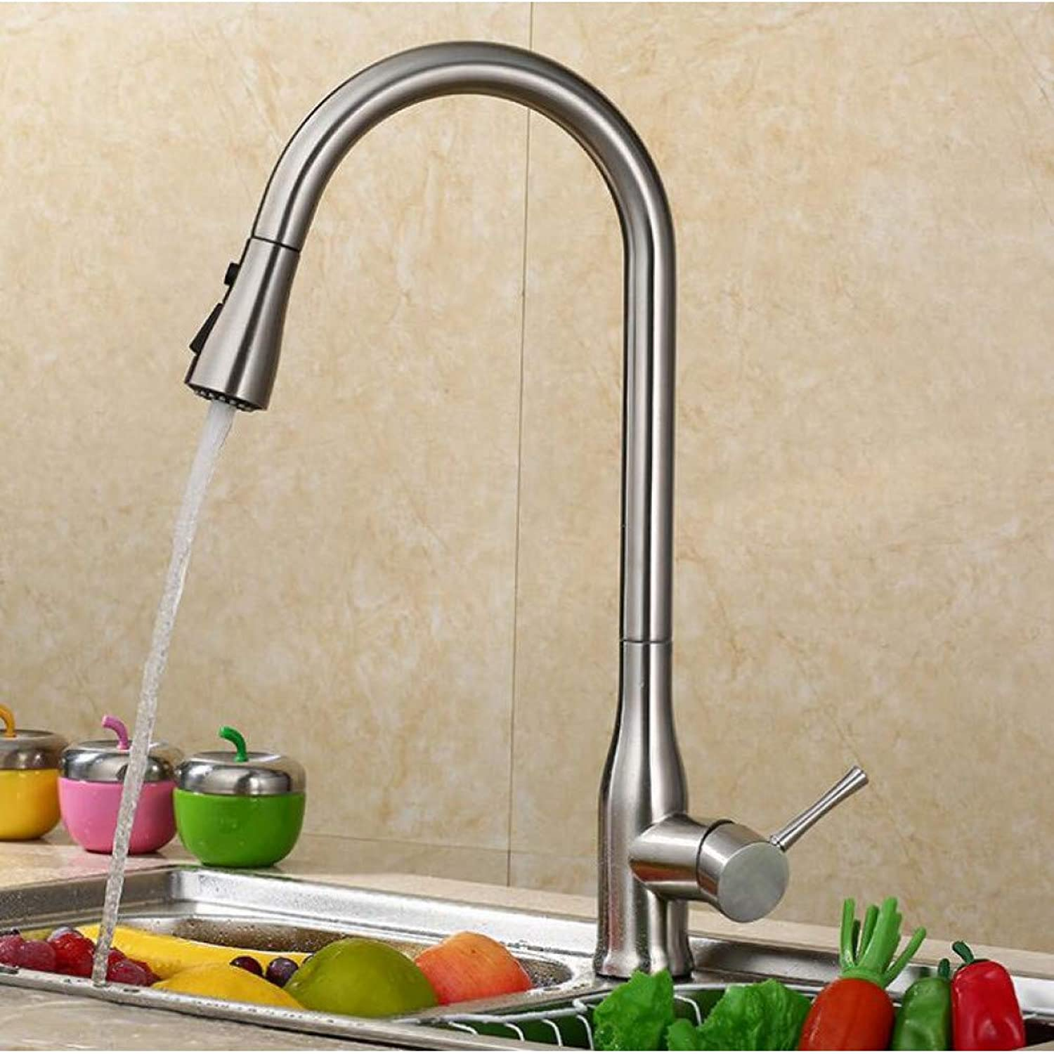 YHSGY Kitchen Taps Pull Out The Kitchen Faucet Sink Faucet Hot and Cold Sink Faucet Copper Telescopic redating Faucet Xt-60