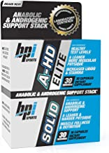 BPI Sports A-HD Elite/Solid (30 Capsules) – Men's Testosterone Booster – Healthy Muscle, Strength, & Performance Support – Promotes Natural Fat Loss & Libido – 30 Servings – 550mg