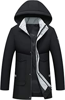 APTRO Men's Winter Warm Coat Thicken Long Jacket Outerwear Coat with Removable Hood