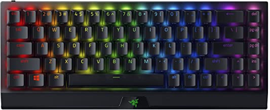 Razer BlackWidow V3 Mini HyperSpeed 65% Wireless Mechanical Gaming Keyboard: HyperSpeed Wireless Technology - Yellow Mecha...