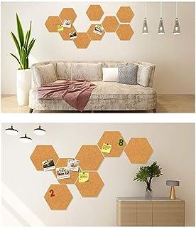 UYZ Tablero de Corcho Hexagonal - Parte Posterior Adhesiva Completa, Mini s, Tablero de decoración para imágenes Fotos Not...