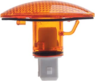 HERCOO Dually Bed Fender Side Marker Lights Cover Lens Aftermarket Replacement Compatible with 1999-2010 Ford F350 F450 F550 (Qty:1, Amber)