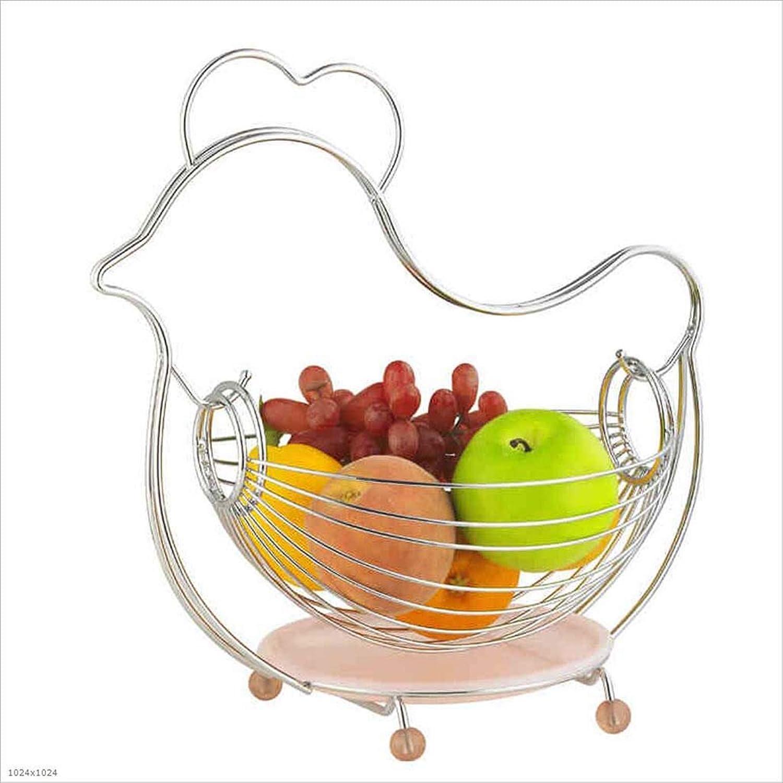XRFHZT Creative Queen Acier INOX Salle De Séjour Européen Bassin De Fruits Panier De Fruits Plaque De Cuisine
