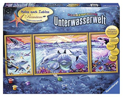Ravensburger Malen nach Zahlen 28954 - Farbenfrohe Unterwasserwelt - Perfektes Malergebnis durch hochwertiges Künstlerzubehör, ohne Rahmen