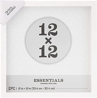 Darice Essentials White Shadow Box: 12 X 12, 2Piece