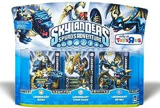 Skylanders Character Adventure Figures Legendary Bash, Legendary Chop Chop, Legendary Spyro