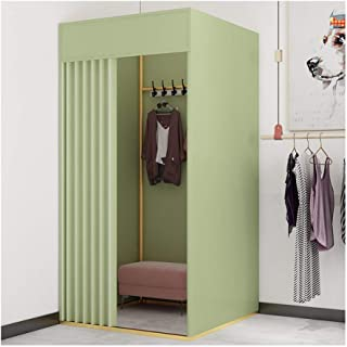 GDMING Fitting Room Changing Room With Metal Frame Shelf Clothing Store Simple Removable Locker Room For Show Change Cloth...