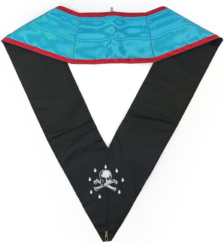 Masonic Memphis Misraim Officer's collar Machine Embroided