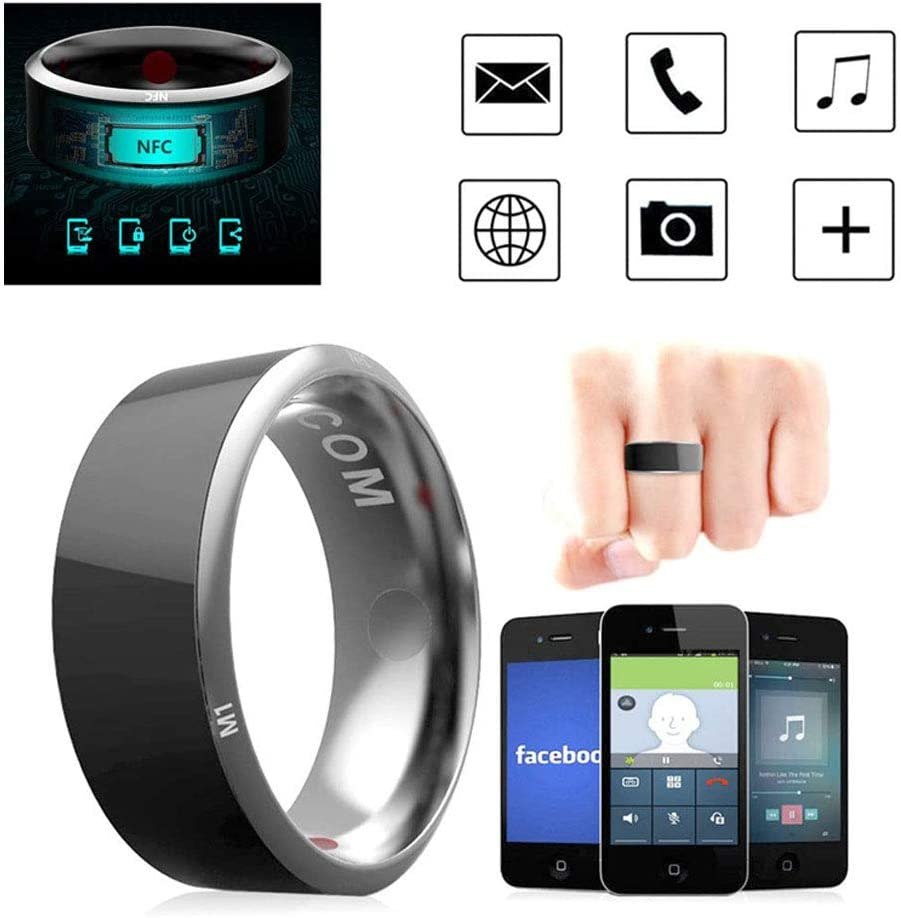 R3 Smart Ring, Leagway Waterproof Dust-Proof Fall-Proof Smart Ring for Android Windows NFC Mobile Phone, Multifunction Magic Finger Ring for Samsung Xiaomi HTC LG Sony Motorola Nokia (#8)