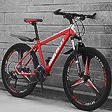 24 Pulgadas 21-velocidad Bicicleta De Montaña,3 Habló Bicicleta De Engranajes Con Frenos De Disco Dobles & Suspensión...