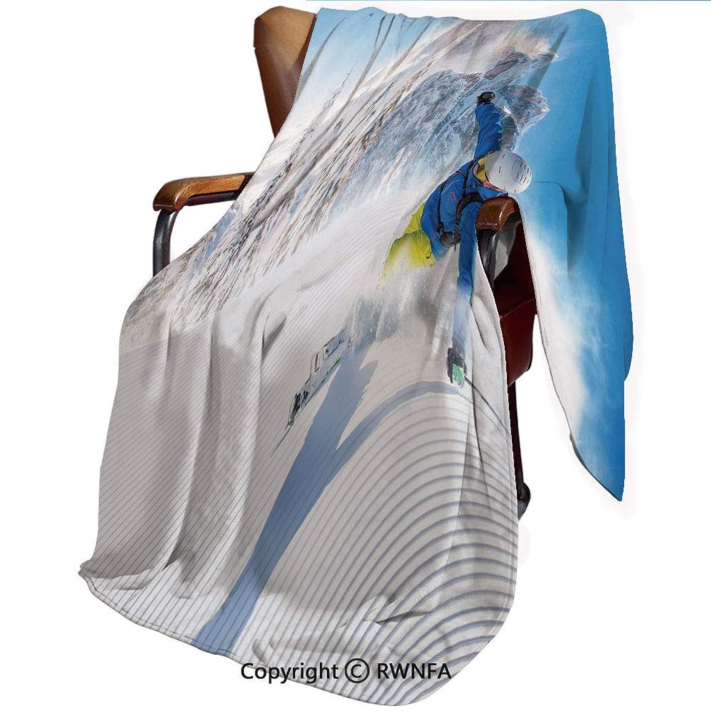前任者心理的中間印刷者 毛布 シングル ネイビー マイヤー毛布 高山のスキーダウンヒル極端な冬のスポーツの趣味活動装飾 プレミアム マイクロファイバー 軽い 発熱効果 セミダブル 防寒毛布 洗濯OK 冷房対策 通年使 140cmx200cm