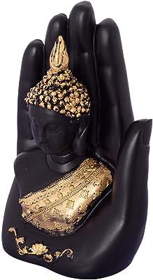 Renown Streets Palm Hand Buddha Showpiece for Home Decor (12.5 cm X 7.5 cm X 17.5)