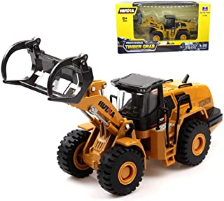 Geminismart Famous in-Home Learning Brand 1/50 Scale Diecast Dump Truck Timber Grab Truck Engineering Vehicle Construction Alloy Models Toys for Kids and Decoration for House (Timber Grab Truck)