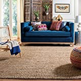 Safavieh Natural Fiber Collection NF447A Hand-woven Chunky Textured Jute Area Rug, 3' x 5'