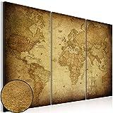 murando - Cuadro en Lienzo 120x80 - Impresión de 3 Piezas Material Tejido no Tejido Impresión Artística Imagen Gráfica Decoracion de Pared Mapa del Mundo k-A-0007-b-e