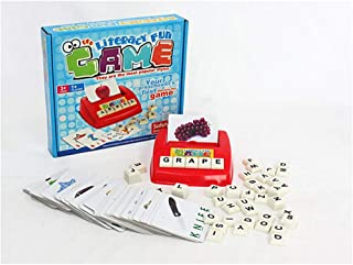 Literacy Fun Game Matching Letter Game, 60 Flash Cards English Word Spelling Memory Puzzle Board Sight Words (26.8cmx26.8c...