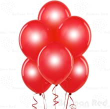 Metallic Red 12 Inch Pearlescent Thickened Latex Balloons, Pack of 100, Pearlized Premium Helium Quality for Wedding Bridal Baby Shower Birthday Party Decorations Supplies Ballon Baloon Thinken