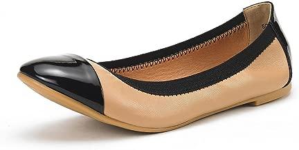 DREAM PAIRS Women's Sole-Flex Ballerina Walking Flats Shoes
