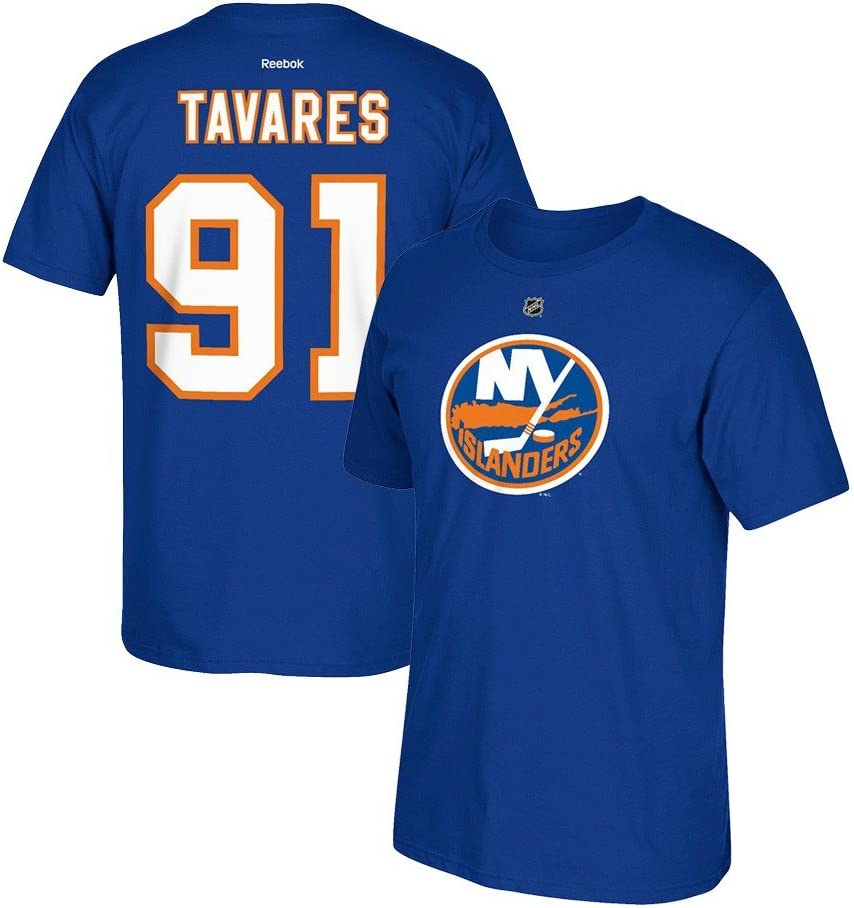 Reebok John Tavares New York Islanders Super sale Max 58% OFF Name Jersey T- and Number
