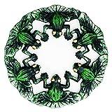 Sungmor Heavy Duty Hierro Fundido Pintado a Mano Frog Trivet - 14.5 × 14.5 × 2cm - Retro Rústico Aspecto a Prueba de Herrumbre Bastidores Redondos Soportes para sartenes o teteras, decoración