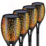 Solar Torch Lights,Waterproof Flickering Flame Torch Lights Outdoor Solar Spotlights Landscape Decoration Lighting Dusk to Dawn Security Path Light for Garden Patio Deck Yard Driveway (4 Pack)