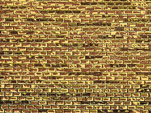 Pappe regelmäßiges Mauerwerk, 22x10cm